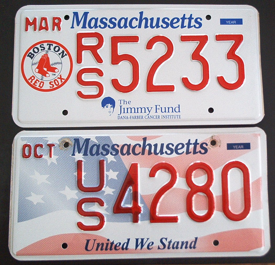 Massachusetts license plates for Fishing license ma